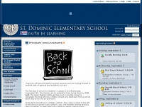 Stdomsob.org - St. Dominic Elementary School - Homepage