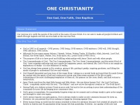 Onechristianity.org