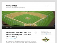 Know Hitter | Throwing in My Two Cents on the World of Sports