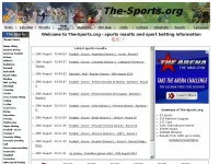 The-Sports.org - all sports results, sport statistics and sports betting information