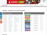 Bettify - Football Statistics and Ratings