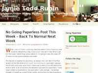 Jamie Todd Rubin | Science Fiction Writer, Blogger, Evernote Paperless Lifestyle Ambassador