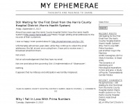 My Ephemerae › Thoughts and Musings to Share