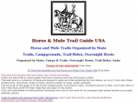 Horse & Mule Trail Guide USA: Trails, Campgrounds, Overnight in USA