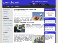 Arbeitsvermittlung Düren | pro-jobs.net