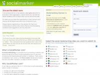 Social bookmarking service. Fast tagging and posting to all major social websites - SocialMarker.com