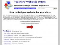 How to design a website for your class - Teachers' Websites Online