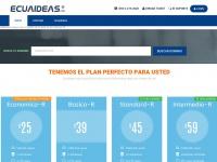 Ecuaideas.com  Venta de Hosting en Ecuador, registro de dominios, alojamiento web, servidores dedicados, vps, hosting web, Diseño de páginas web, tienda online, Streaming Audio y Video, para el Mundo