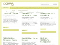 Kichwa.net - Internetpi kichwa shimita yachakupay – Aprende kichwa en internet Learn kichwa online