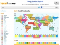 World Time - World Time Map & World Clock span 25 Time Zones