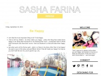 Sasha Farina. The blog.