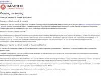 Camping Caravaning | VEHICULE RECREATIF A VENDRE ET CAMPING AU QUEBEC