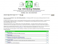 Fatbirder's Top 1000 Birding Websites - Rankings - All Sites