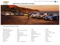 Chevrolet : official website for Europe