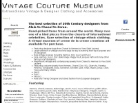 Vintage Couture Museum, Extraordinary Vintage & Designer Clothing and Accessories