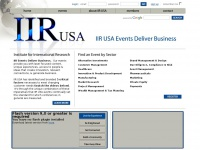 IIR USA - Events Deliver Business