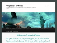 Pragmatic Witness | A layman's perspective on the turbulent times unfolding in America and around the World