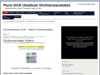 Puredca.com - Dichloroacetate - How To Buy and Use PureDCA For Cancer Treatment