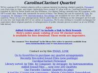 carolinaclarinet.org Thumbnail