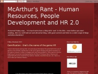 McArthur's Rant  -  Human Resources, People Development and HR 2.0