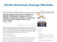 South American Energy Markets | Gas, power, nuclear, biofuels, upstream and downstream…