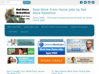 Ratracerebellion.com - Work at Home Jobs: Free Legitimate Work From Home Job Opportunities