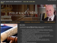 Attytetu.com - Law Office of Attorney Philip Raoul Tetu