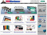 SIGN Warehouse - Vinyl Cutters, Garment Decoration, Wide Format Color Printers, Engravers, Sign Making Supplies and More!