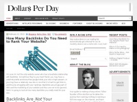 Dollars Per Day - Make a living out of your blog