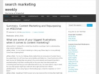Search Marketing Weekly - the home of #seochat