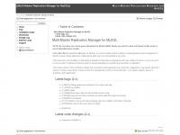Multi-Master Replication Manager for MySQL    [MMM for MySQL Wiki]