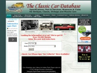 Classiccardatabase.com - Classic Car Database, Specifications, Dealers, Parts and Services for Antique Cars, Classic Cars, Vintage Cars and Muscle Cars
