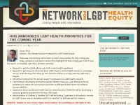 The Network for LGBT Health Equity | Linking People and Information