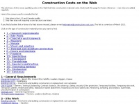 Links to all construction material costs on the Web