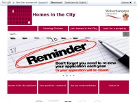 Homesinthecity.org.uk - Homes in the City - Main Menu