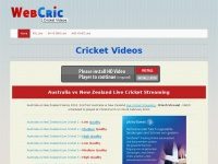 Webcric.com - Watch Live Cricket - Live Cricket Streaming - ICC World T20, India, Pakistan, Australia, England, Sri Lanka, Bangladesh, South Africa, New Zealand, West Indies