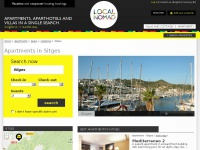 Sitges apartments by localnomad-sitges.com, Sitges holiday and vacation apartment rentals