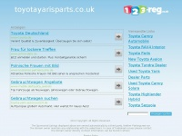 Toyotayarisparts.co.uk