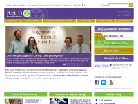 Keiro.org - Keiro website home - Keiro Senior HealthCare