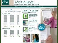 Troublefreeblinds.com - Add-On Blinds ~ More privacy. More style. Less hassle.