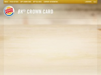 Bkcrowncard.com - BK® CROWN CARD: Prepaid Gift Cards from Burger King