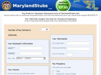 Maryland Paystub Samples | Maryland Stub Sample Generator | MarylandStubs.com