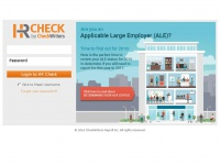 Checkwriterspayrollhr.com - HRCheck Login