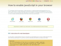 Enable-javascript.com - How to enable JavaScript in your browser and why