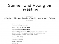 Gannon and Hoang on Investing