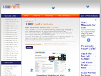 1300 Directory Advertising Network | 1300 SPORTS | Home