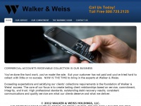 Walkerweiss.com - Walker & Weiss Holdings, LLC - HOME
