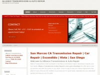 Auto and Transmission Repair | San Marcos, CA | Alliance Transmissions & Auto Repair