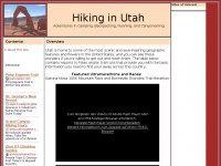 Hiking in Utah: Adventures in Camping, Backpacking, Running, and Canyoneering
