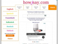 Howjsay.com - Free online Dictionary of English Pronunciation - How to Pronounce English words